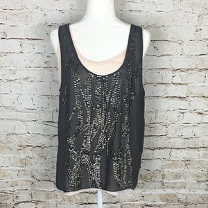 MM Couture Tank with Sequins by Nordstrom Size L
